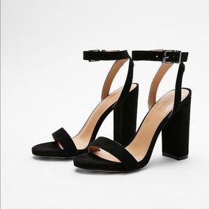 Express Black Strap Heels
